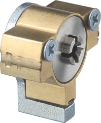 Locks and locking systems with cross profile